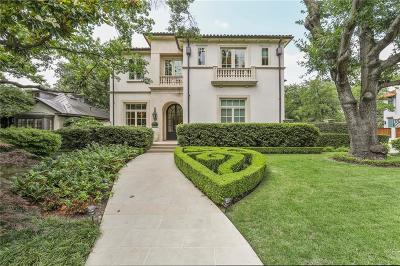 Highland Park Single Family Home For Sale: 3600 Dartmouth Avenue