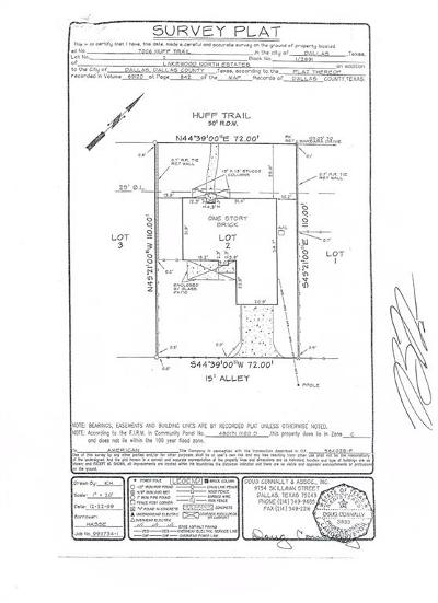 Dallas County Residential Lots & Land For Sale: 7006 Huff Trail