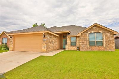 Abilene Single Family Home Active Option Contract: 5141 Spring Creek Road