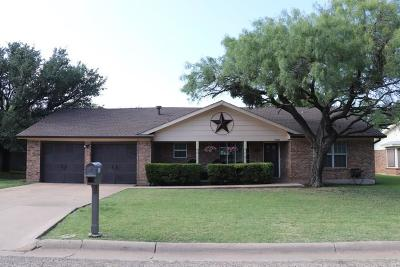 Abilene Single Family Home Active Option Contract: 1018 Chriswood Drive