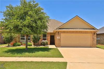 Abilene Single Family Home Active Kick Out: 4810 Spring Creek Road