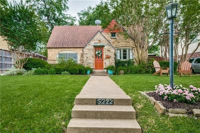 Dallas Single Family Home For Sale: 5222 Merrimac Avenue