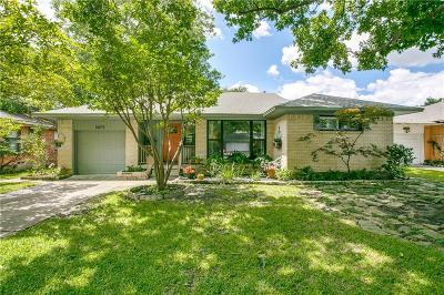 Dallas Single Family Home Active Option Contract: 10075 San Lorenzo Drive