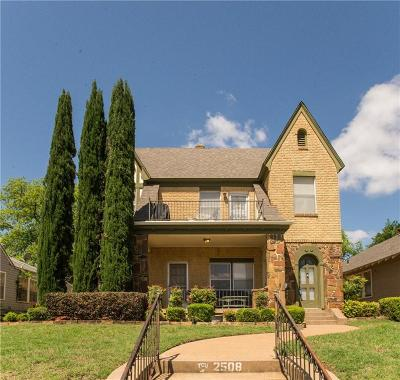 Fort Worth Single Family Home For Sale: 2508 Lubbock Avenue