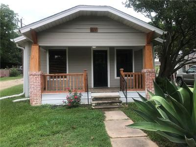Grand Saline Single Family Home Active Option Contract: 111 E Hill Street