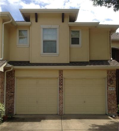 Frisco Townhouse For Sale: 9731 Wake Bridge Drive