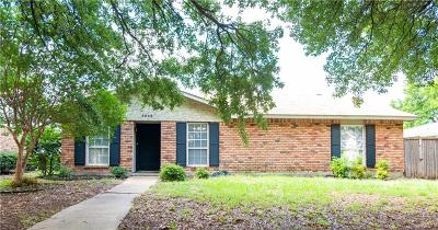 The Colony Single Family Home Active Option Contract: 5048 Arbor Glen Road