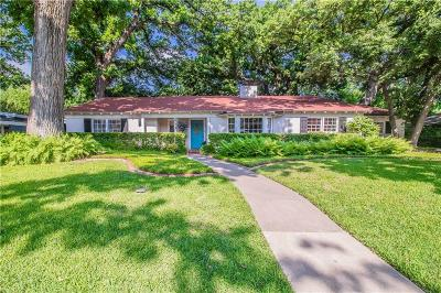 Tarrant County Single Family Home For Sale: 2724 Harlanwood Drive