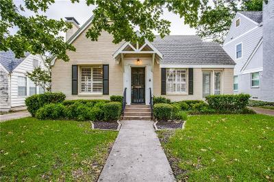 Dallas Single Family Home For Sale: 5523 W Amherst