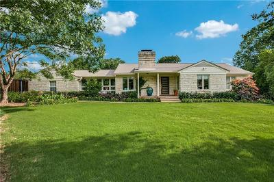 Preston Hollow, Preston Hollow Rev Single Family Home For Sale: 4205 Gloster Road