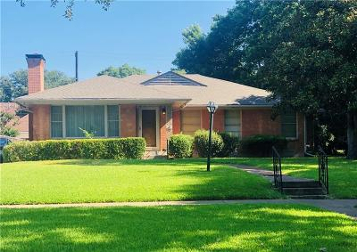 Dallas Single Family Home For Sale: 7537 Caruth Boulevard