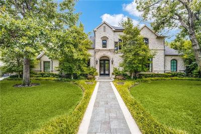 Dallas TX Single Family Home For Sale: $1,599,999