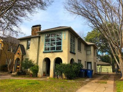 Dallas County Multi Family Home For Sale: 4007 Hawthorne Avenue