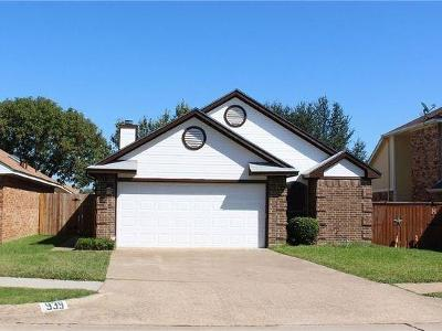 Lewisville Residential Lease For Lease: 939 Boxwood Drive