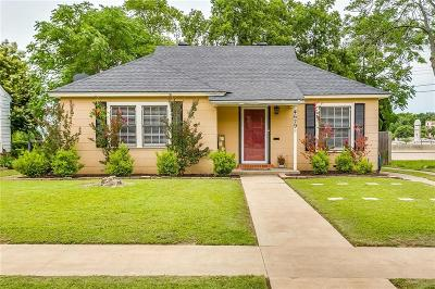 Arlington Heights Single Family Home Active Option Contract: 4629 Calmont Avenue
