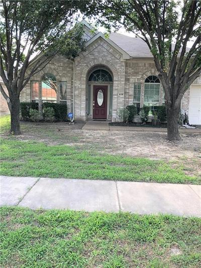 Desoto Single Family Home For Sale: 600 Spicewood Drive