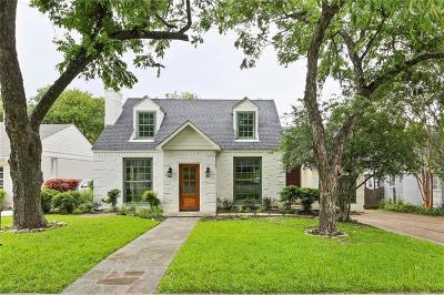 Dallas Single Family Home For Sale: 6929 Hammond Avenue