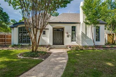 Highland Park, University Park Single Family Home For Sale: 4605 Livingston Avenue