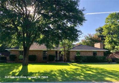Coppell Single Family Home For Sale: 512 Oakcrest Drive