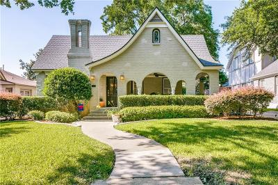 Dallas Single Family Home For Sale: 5627 Mercedes Avenue