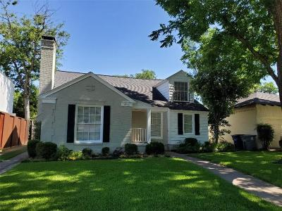 Dallas Single Family Home For Sale: 6015 Marquita Avenue