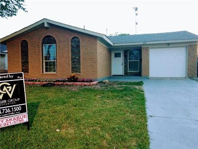 Garland Single Family Home For Sale: 607 Parker Circle