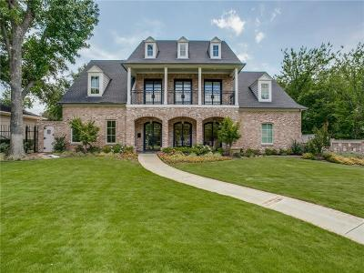 Preston Hollow, Preston Hollow Rev Single Family Home For Sale: 6622 Desco Drive