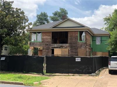 Dallas Single Family Home For Sale: 4052 Hawthorne Avenue