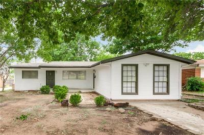 Irving Single Family Home Active Option Contract: 1319 Beacon Hill Drive