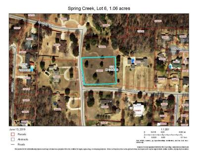 Grayson County Residential Lots & Land Active Contingent: Spring Creek Drive