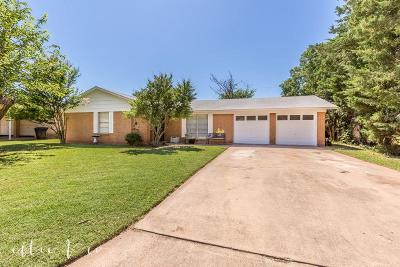 Abilene Single Family Home Active Option Contract: 3126 Nonesuch Road