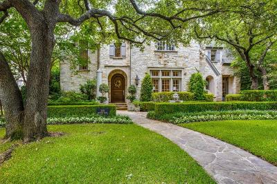 Dallas County Single Family Home For Sale: 3201 Centenary Avenue