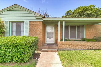 Fort Worth Single Family Home Active Option Contract: 3248 Bigham Boulevard