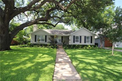 Dallas Single Family Home For Sale: 5027 Waneta Drive