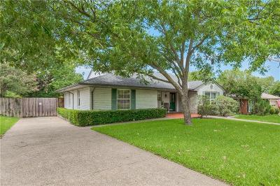 Lake Highlands Single Family Home Active Option Contract: 9423 Crestlake Drive