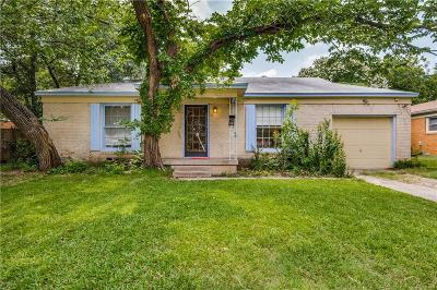 Irving Single Family Home Active Option Contract: 1537 John Smith Drive