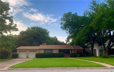 Fort Worth Single Family Home For Sale: 3808 Winslow Drive