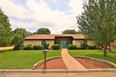 Abilene Single Family Home Active Option Contract: 1035 Chriswood Drive