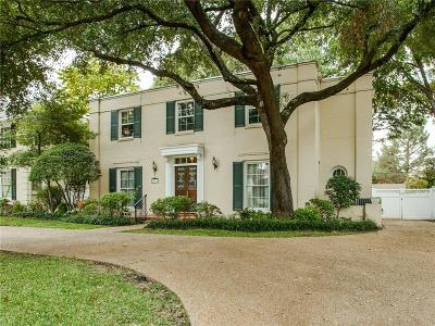 Highland Park, University Park Single Family Home For Sale: 4661 Mockingbird Lane