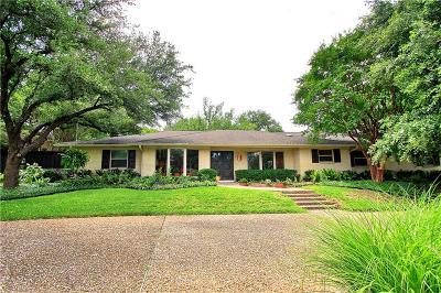 Dallas Single Family Home For Sale: 6819 Mossvine Circle