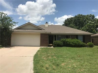 Abilene Single Family Home Active Option Contract: 2218 Independence Boulevard