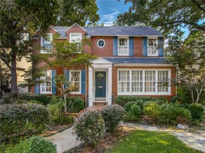 Highland Park Single Family Home Active Option Contract: 4508 Belclaire Avenue