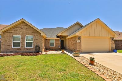 Abilene Single Family Home Active Option Contract: 3025 Legends Trail