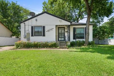Dallas County Single Family Home Active Option Contract: 4216 Western Street