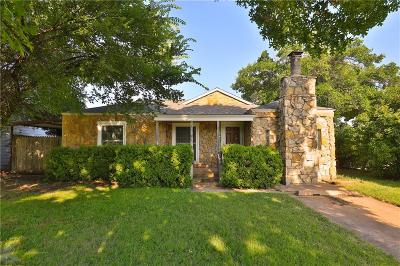 Abilene Single Family Home Active Option Contract: 1502 Ballinger