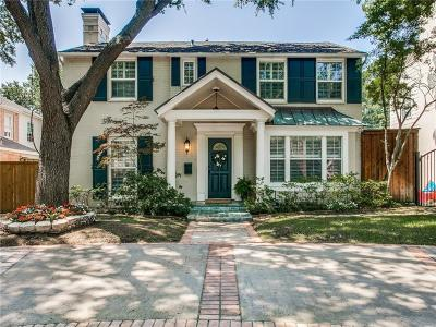 Highland Park Single Family Home For Sale: 4533 Belfort Avenue