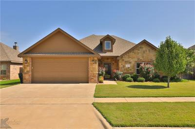 Abilene Single Family Home Active Option Contract: 366 Whiterock Drive