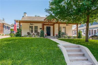 Dallas Single Family Home For Sale: 5510 Belmont Avenue