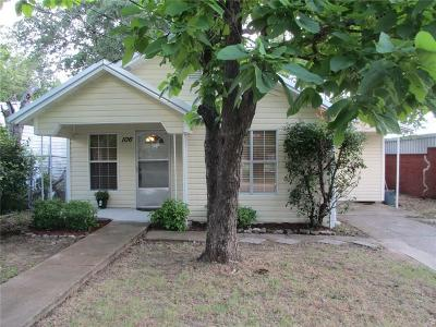 Stephenville Single Family Home Active Contingent: 106 S Belmont Street