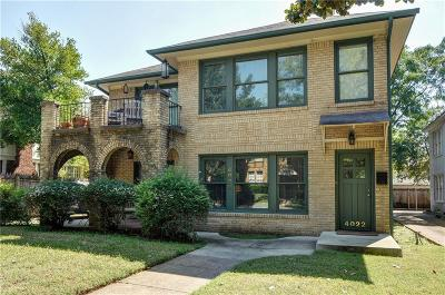 Dallas Residential Lease For Lease: 4022 Hawthorne Avenue